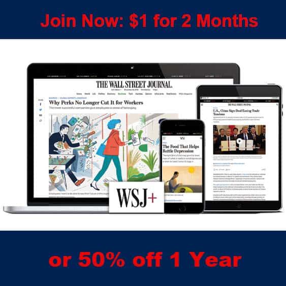 Wall Street Journal Deal | 2 Months Only .00