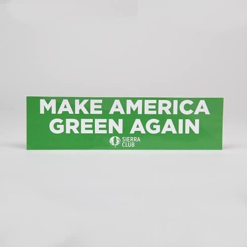 Free Sierra Club Make America Green Again Sticker
