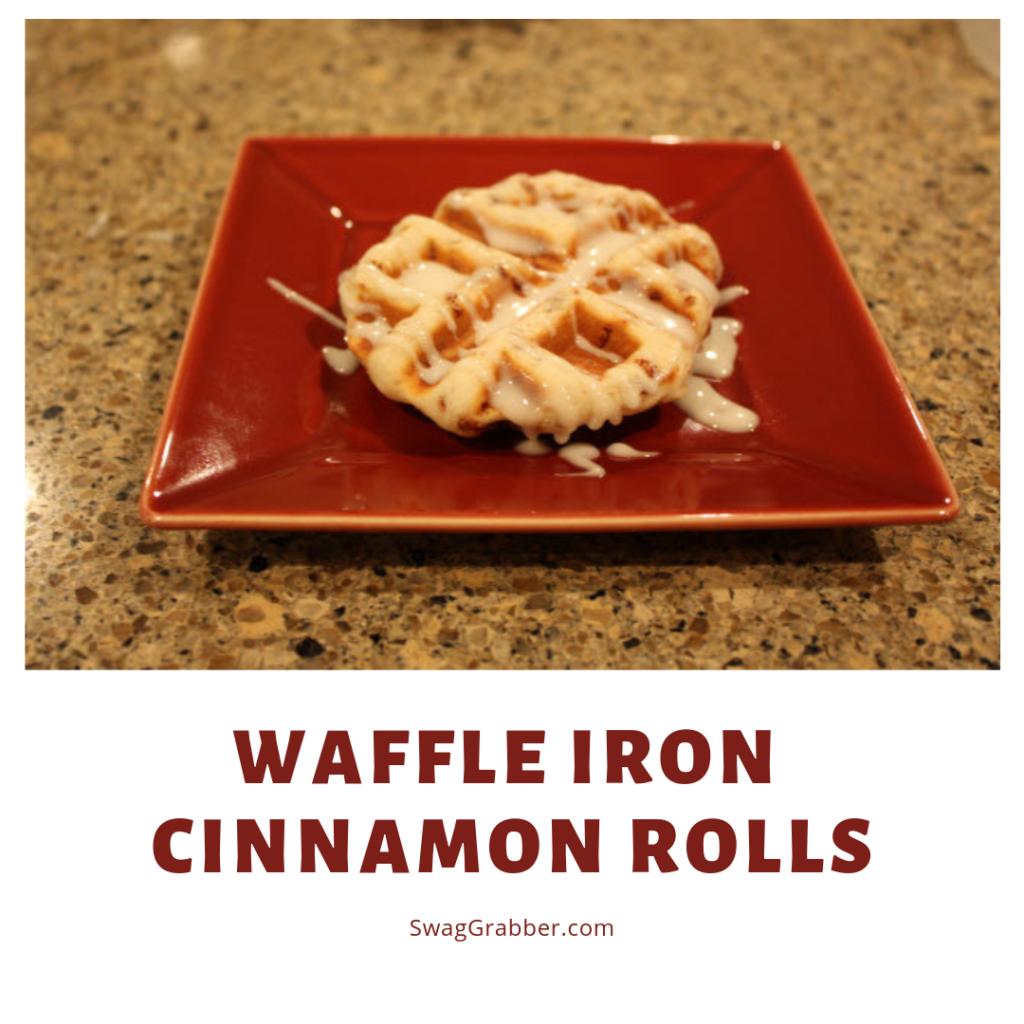 Waffle Iron Cinnamon Rolls