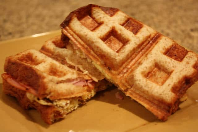 Waffle Iron Challenge: Attempt 2 Ham, Egg, & Cheese Sandwich