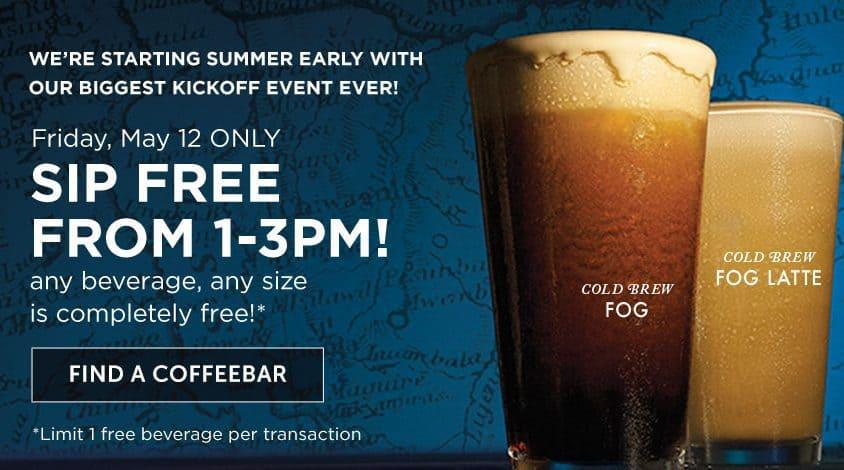 FREE Beverage at Peet's Coffee Tomorrow