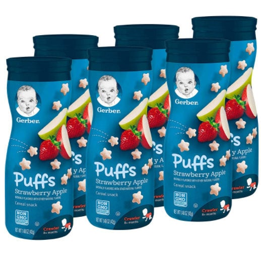 Gerber Graduates Puffs (1.48-oz. Canisters) Only .10 Each Shipped