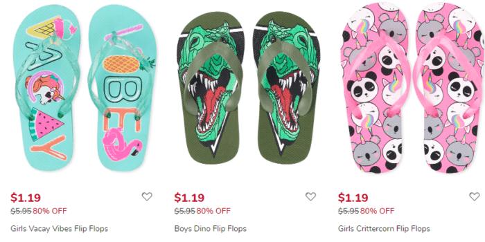 Kids Flip Flops Only .19 Shipped