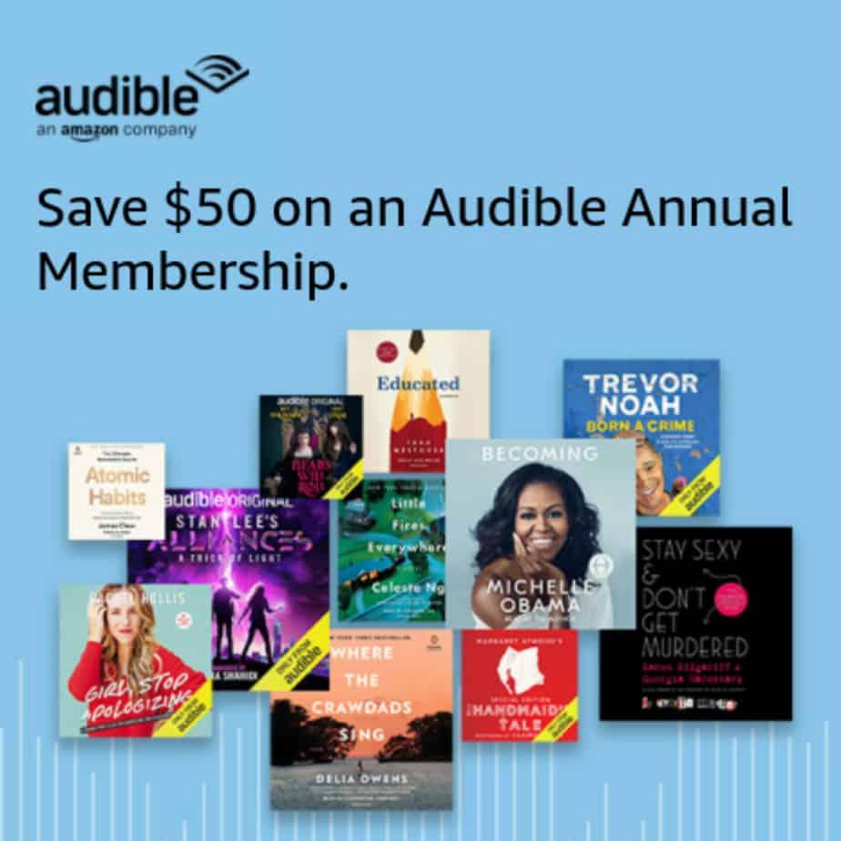 Save  off Annual Audible Membership + Get FREE  Amazon Gift Card