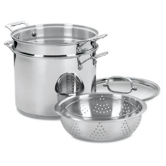 Cuisinart Chef's Stainless 12-Quart Pasta/Steamer Set Now .99 (Was 0)