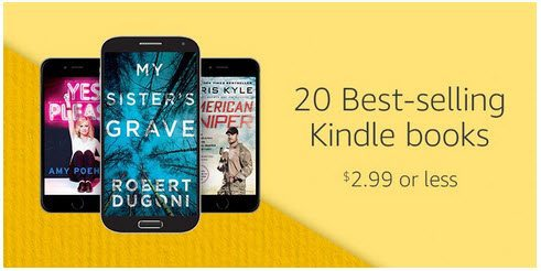 Amazon: Load Your Library with Kindle Books ~ $2.99 or Less ~ New Selection for Today Only!