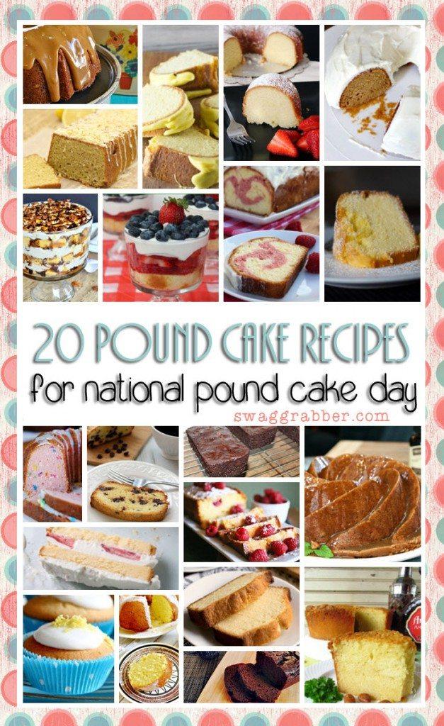 20 Pound Cake Recipes for National Pound Cake Day!