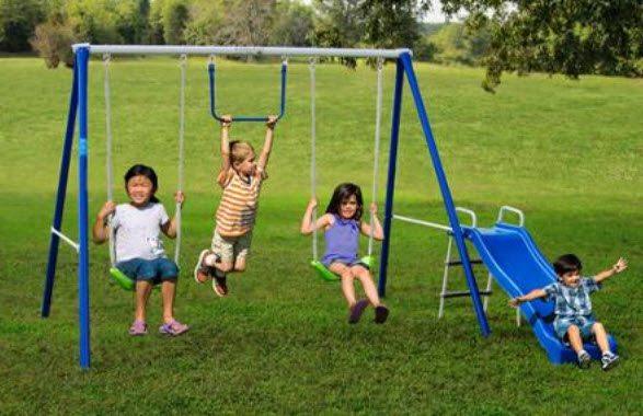 Flexible Flyer First Fun Metal Swing Set $79 Shipped!