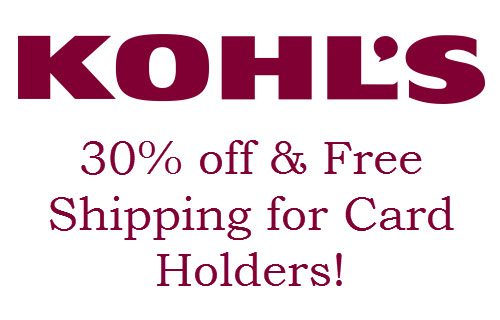 Kohl's Card Holders 30% Off Code + HUGE List of Stacking Codes