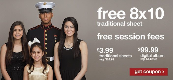 FREE 8x10 Portrait at Target for Military Personnel