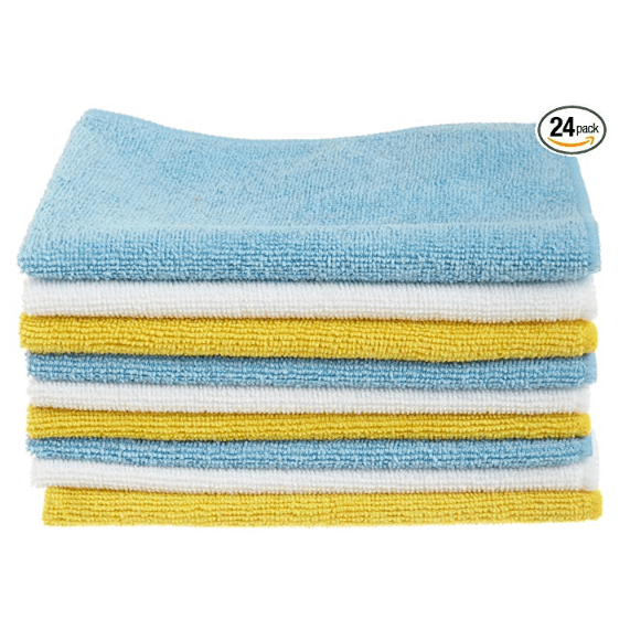 AmazonBasics Microfiber Cleaning Cloth - 24-Pack $12.81