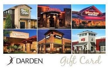 50 Gift Card To Darden Restaurants Only Olive Garden Longhorn Red Lobster More