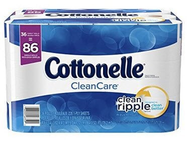 36 Family Rolls of Cottonelle CleanCare Toilet Paper $18.23 Shipped