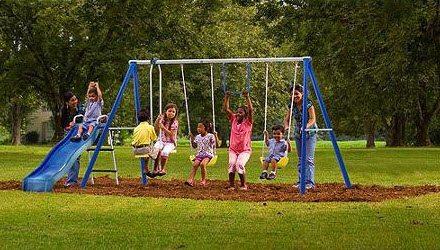 Flexible Flyer Swing Free Metal Swing Set $129 Shipped (Was $209)