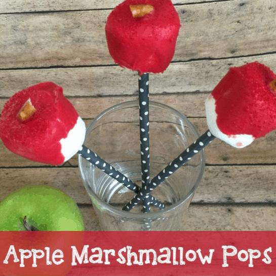 Back to School Apple Marshmallow Pops