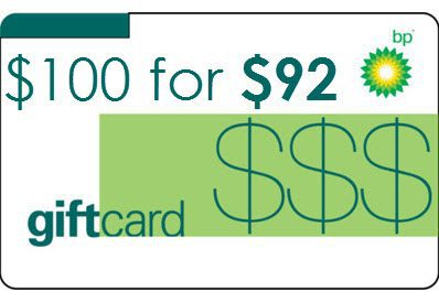 $100 BP Gas Gift Card only $93