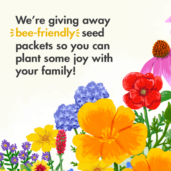 FREE Packet of Bee-Friendly Flower Seeds from Zarbee's