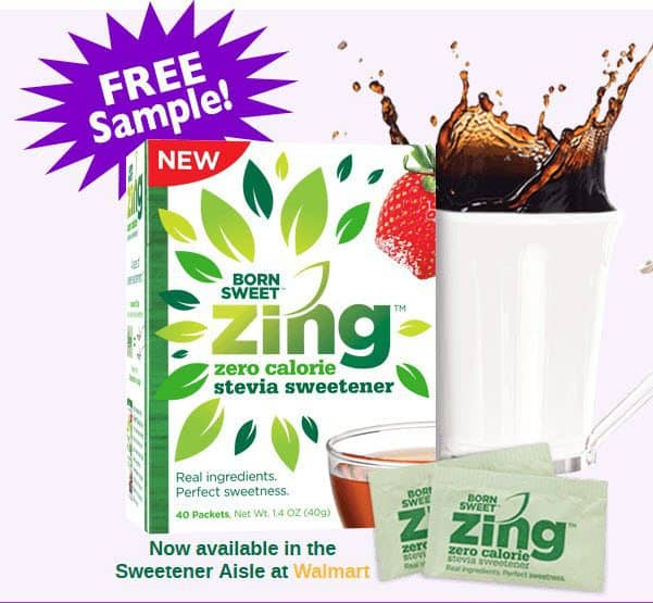 FREE Zing Zero Calorie Stevia Sweetener