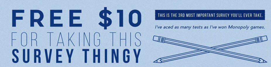 Take a Short Survey Get a $10 off $25 Moosejaw Coupon