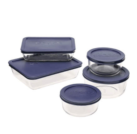 Pyrex Simply Store 10-Piece Glass Food Storage Set Only $20.64