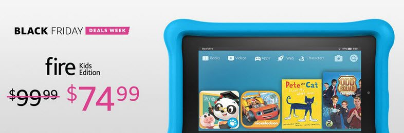 Amazon Black Friday Deal: Kindle Fire Kids Edition w/ Kid-Proof Case $74.99 **Best Price Ever**