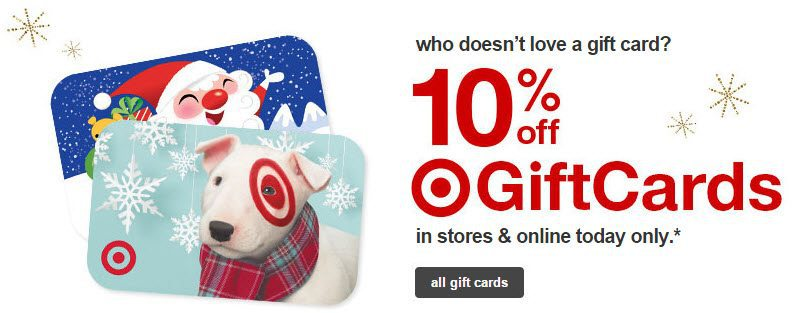Save 10 Off Target Gift Cards Today Only Swaggrabber