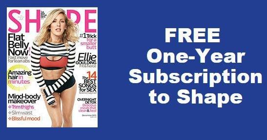 Free One Year Subscription to Shape Magazine!