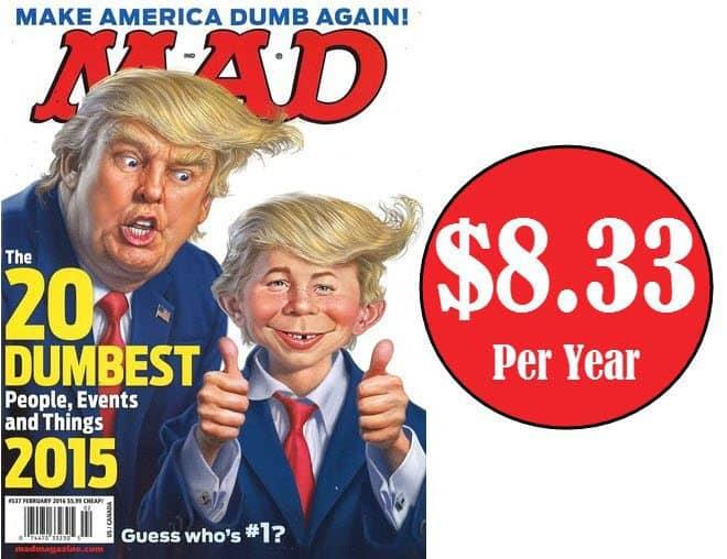 3 Year MAD Magazine Subscription $24.99 - $8.33 Per Yr