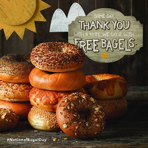 Einstein Bros: FREE Bagel and Shmear w/ Drink Purchase Coupon