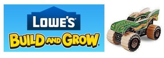 Lowe's Build & Grow - Build a FREE Monster Jam, Featuring Dragon on 2/27 @ 10am