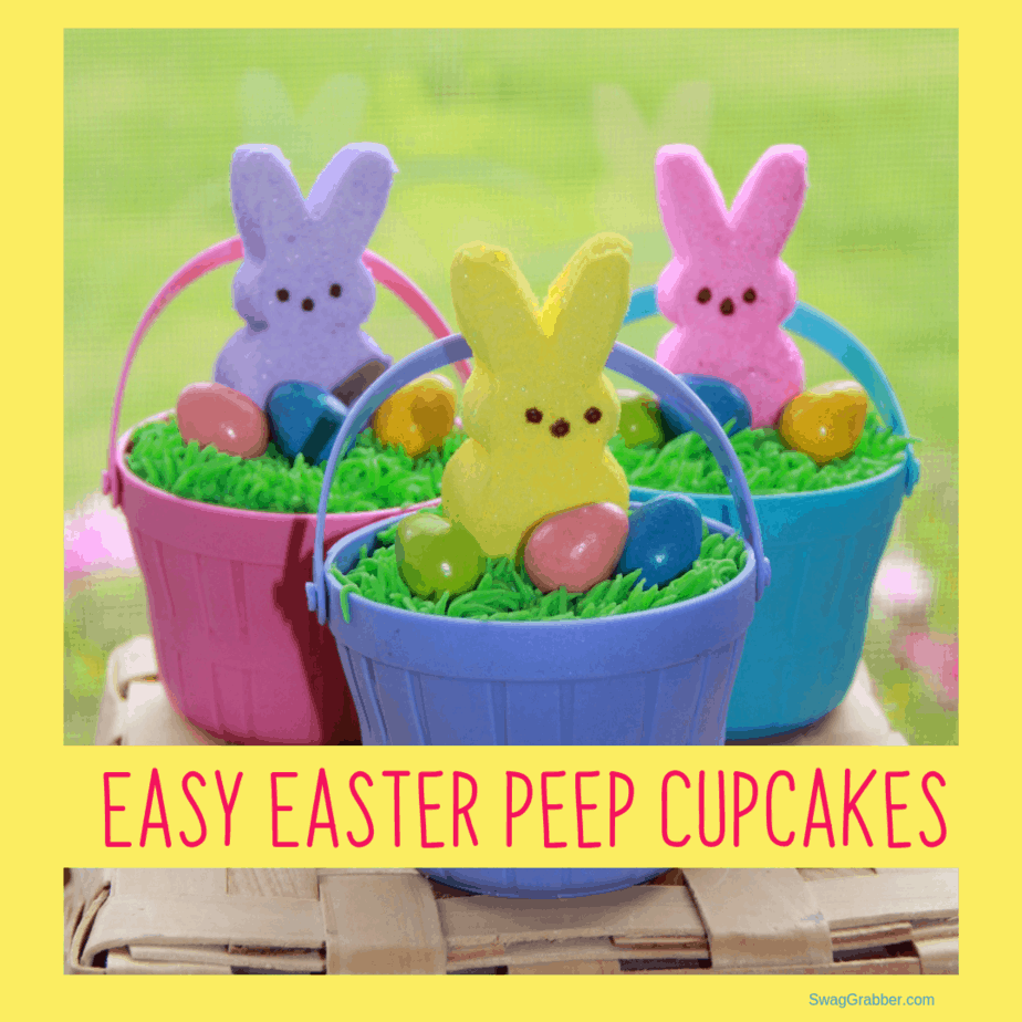 Adorable and EASY Easter Peep Cupcakes **Fun with Kids**