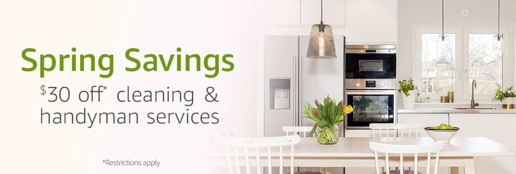 Save $30 off Any Cleaning or Handyman Service from Amazon