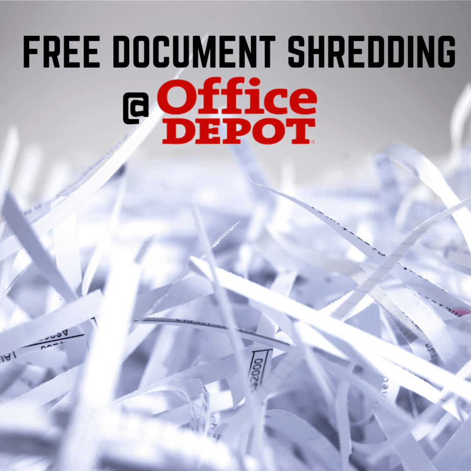 Office Depot/Max: 5 FREE Pounds of Document Shredding