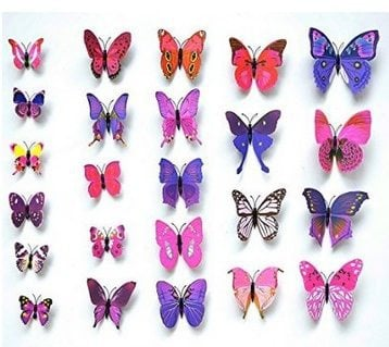 12 3D Butterfly Wall Stickers $3.15 w/ Free Shipping **Awesome Addition to Any Kids Room**