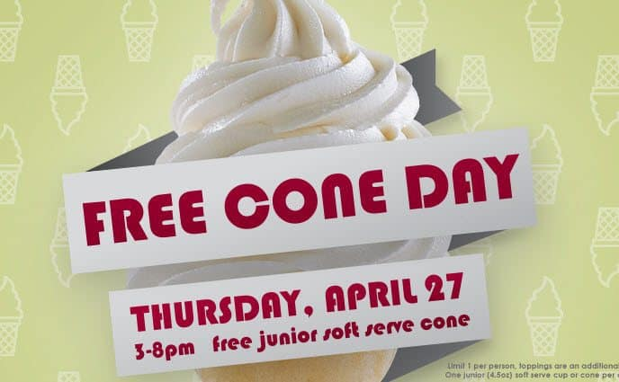 Get Free Soft Serve Cone at Carvel Today