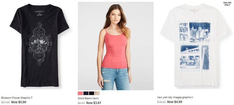 Aeropostale: 60% off Site Wide + $5 Flat Rate Shipping - Shirts Under $4.00