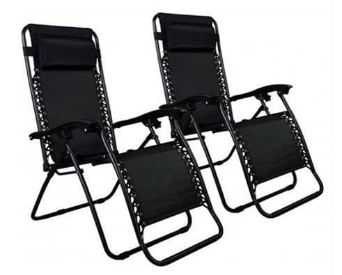 Set of 2 Zero Gravity Outdoor Patio Chairs $39.99 Shipped - $19.99 Each