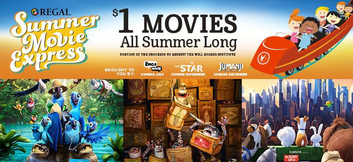 Regal Summer Movie Express = $1 Movies All Summer!