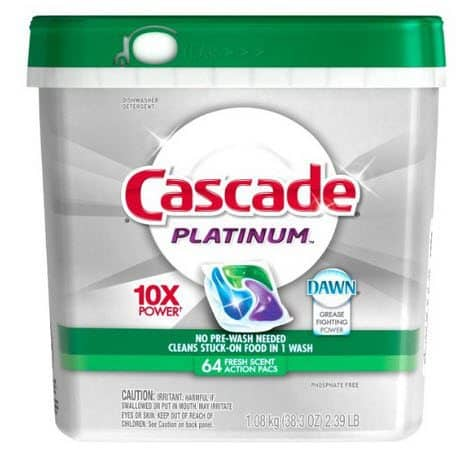 64 Cascade Platinum Actionpacs $8.72 Shipped - 13¢ Per Pac