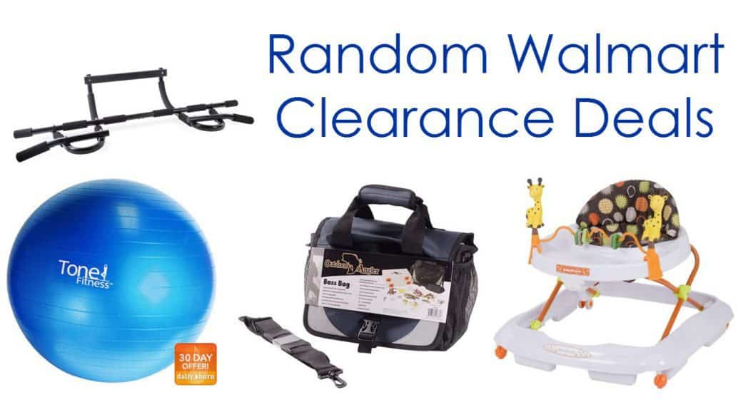 Walmart Clearance Deals - Baby Walker, Tackle Boxes, and More!