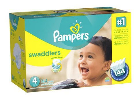 Pampers Swaddlers Diapers Size 4 (144 Count) $18.18 **Only 13¢ Per Diaper**