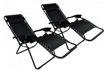 Set of 2 Black Zero Gravity Chairs Only $54.99