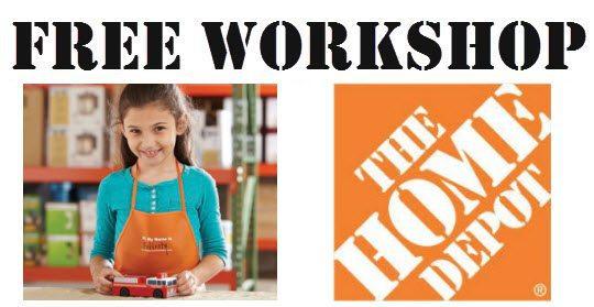 free workshop home depot