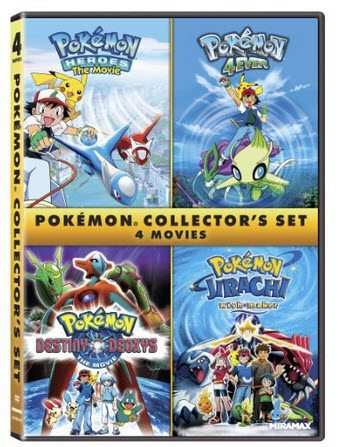 Pokémon Collectors 4-Film Set DVD Only $5.00