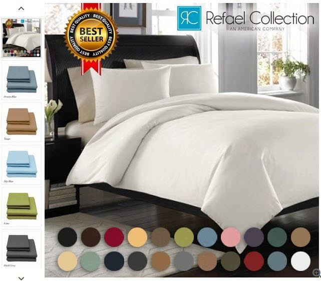 Egyptian Comfort 1800 Count Deep Pocket Bed Sheets by Refael Collection $8.99 Shipped