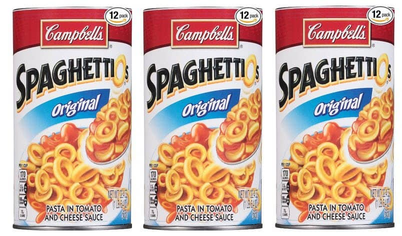 Pack of 12 Campbell's SpaghettiOs $10.53 Shipped - 87¢ Per Can