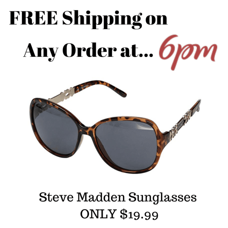 6pm.com: FREE Shipping on ANY Order Until 8/17 - 0 Steve Madden Glasses