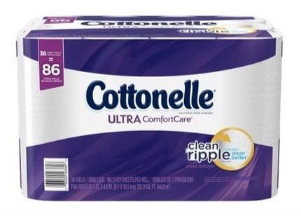36 Rolls of Cottonelle Toilet Paper $14.13