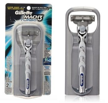 Gillette Mach3 Turbo Men's Razor with 2 Cartridges Only $5.95 Shipped