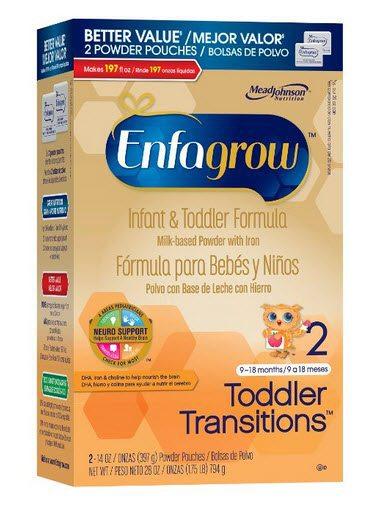 Enfagrow Toddler Transitions Infant and Toddler Formula - 28 oz Powder Box $13.49 (Was $25)